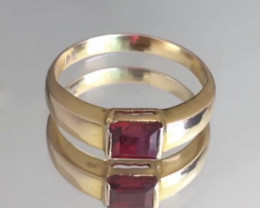Ruby Red Spinel Set in 18k Gold