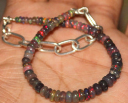 17 Crt Natural Welo Smoked Opal Beads Bracelet 411