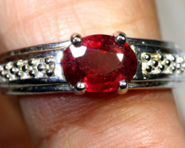 24.15 CTS RUBY  SILVER RING SG-2663