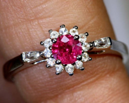 10.30 CTS RUBY  SILVER RING SG-2664
