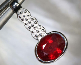 7.20 CTS RUBY SILVER PENDANT SG-2665