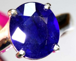 20.40 CTS BLUE SAPPHIRE SILVER RING  SG-2672