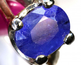41.05 CTS  BLUE SAPPHIRE SILVER RING SG-2674