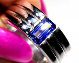 40.7 CTS BLUE SAPPHIRE SILVER RING  SG-2681