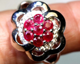 21.25 CTS RUBY  SILVER RING SG-2682