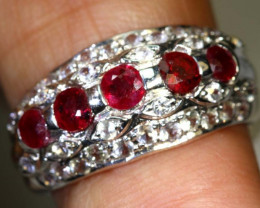 15.30 CTS RUBY  SILVER RING SG-2683