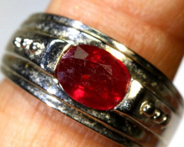 27.35 CTS RUBY  SILVER RING SG-2685