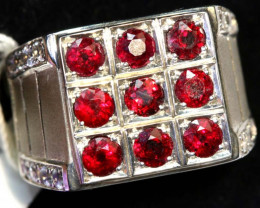 38.50 CTS RUBY SILVER RING SG-2688