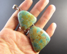 Dual Tibetan Turquoise Pendant MJA 662