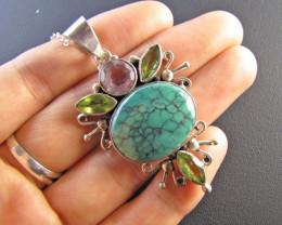 Gemstone n Turquoise Pendant MJA 671