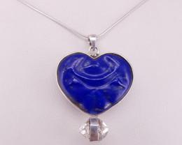 Lipas Lazuli & Hydro Quartz Nacklace.