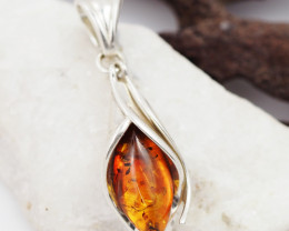 Baltic Amber Sale, Silver Pendant   AM1195