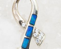 Australian Inlay Opal Pendant OPJ 2065