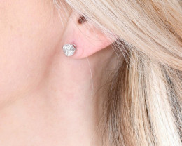 2 Carat tw Diamond Earring Studs set in 14ct White Gold