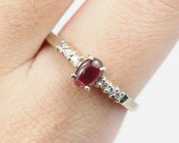 EXCLUSIVE GARNET STERLING SILVER RING AM 1199