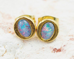 Australian Opal triplet Earrings NA 517
