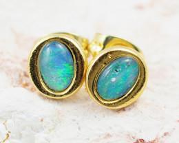 Australian Opal triplet Earring OPJ 2069