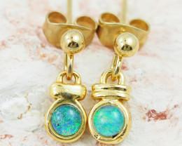 Australian Opal triplet Earring OPJ 2412