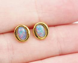 Australian Opal triplet Earring OPJ 2072