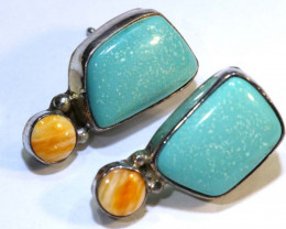 22 CTS CORAL TURQUOISE EARRING  TBJ-4