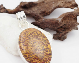 Cobra stone or Caligraphy Stone pendant AM 1212