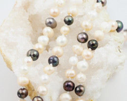 Long 1.2 meter fresh water pearl necklaces  AM 1225
