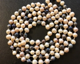 Long 1.2 meter fresh water pearl necklaces  AM 1226