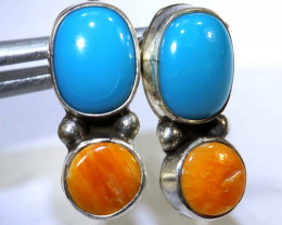 14.5 CTS CORAL TURQUOISE EARRING  TBJ-14