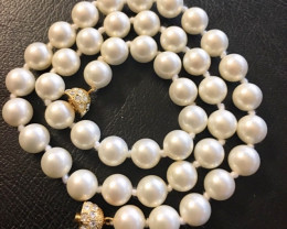 Korean South seas 8 mm  pearl necklaces  AM 1228
