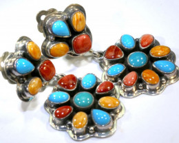 95.5 CTS CORAL TURQUOISE  EARRING  TBJ-20