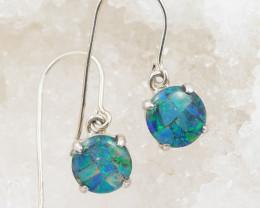 Australian Mosaic  Opal triplet Earring OPJ 2091
