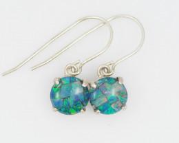 Australian Mosaic  Opal triplet Earring OPJ 2092