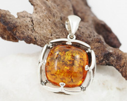 Baltic Amber Sale, Silver Pendant   AM1214