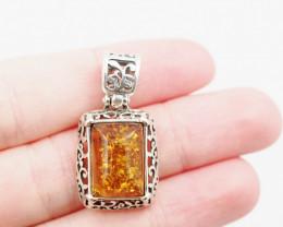 Baltic Amber Sale, Silver Pendant   AM1216