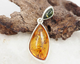 Baltic Amber Sale, Silver Pendant   AM1218