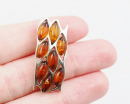 Baltic Amber Sale, Silver Pendant   AM1219