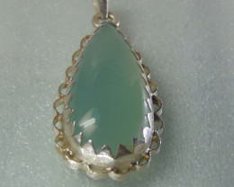 Agate pendent ~ antique stone~ fantasy silver designs 53.75cts