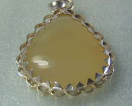 Agate pendent ~ antique stone~ fantasy silver designs 54.90cts