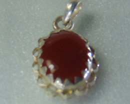 Agate pendent ~ antique stone~ fantasy silver designs 25.50cts