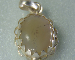 Agate pendent ~ antique stone~ fantasy silver designs 27.35cts