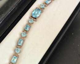 Pretty Blue Topaz Bracelet