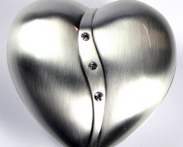 Lovers Heart shape Jewelry Jewelry Box ,polished finish GRR 602
