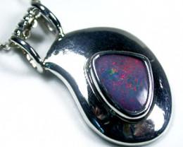 Australian Doublet  opal in Silver  Pendant SCO 1583