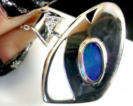 Australian Doublet  opal in Silver  Pendant SCO 1833