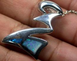 Australian Doublet  opal in Silver  Pendant SCO  1590