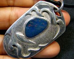 Australian Doublet  opal in Silver  surfer  Pendant My 785