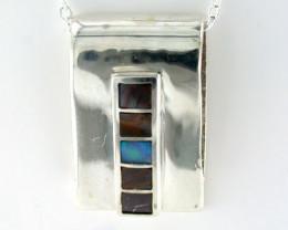 Australian Doublet  opal in Silver  Pendant SS 615