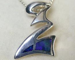 Australian Doublet  opal in Silver  Pendant SCA 1217