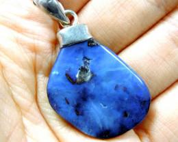 AustralianBoulder  opal in Silver Bale   Pendant Pl 1114