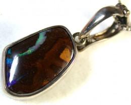 AustralianBoulder  opal in Silver  Pendant SCA1341